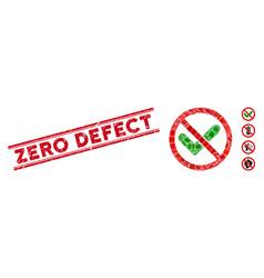 No confirmation mosaic and grunge zero defect vector