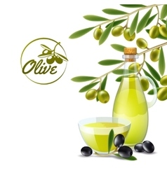 Olive oil pourer backdround vector