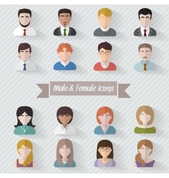 People userpics icons vector image vector image