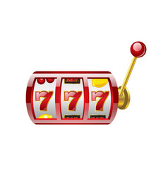 red 777 slot - modern isolated vector image