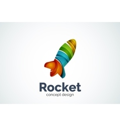 Rocket logo template vector image