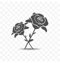 roses icon isolated on transparent background vector image