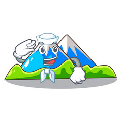 Sailor beautiful mountain in the cartoon form vector