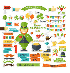 saint patrick day set vector image