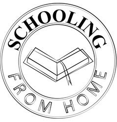 Schooling from home icon sign and concept logo vector