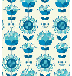 Seamless flower pattern for surface design vector