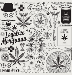 seamless pattern for marijuana legalization vector image