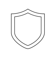 security shield line icon outline sign linear vector image