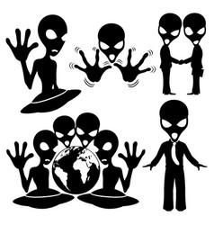 Signs space aliens vector