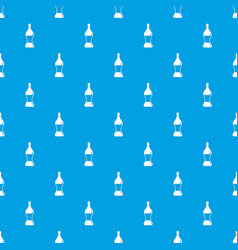soda water pattern seamless blue vector image