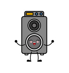 Speaker box icon vector