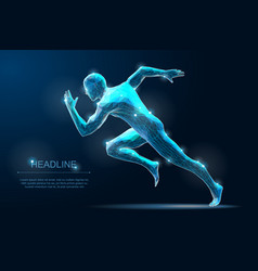 sport run man sprinter start moving vector image