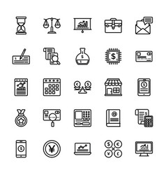 startup and new business line icons vector image