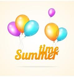 summer ballon card vector image