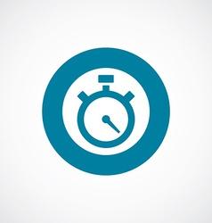 timer icon bold blue circle border vector image