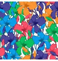 Tropical Flowers in Sketch vector