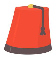 turkish hat icon cartoon style vector image