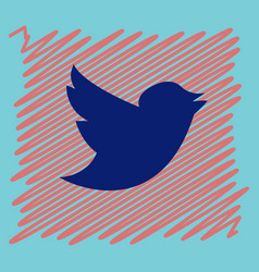 Tweet bird logotwitter icon buttonflat social vector
