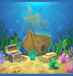 underwater landscape the ocean and undersea vector image