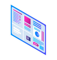 visualization wall icon isometric style vector image