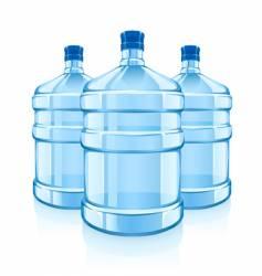Water cooler bottles vector