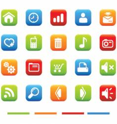 web icons 4 color vector image