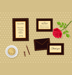 wedding invitation decorated with ethnic pattern vector image