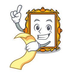with menu picture frame mascot cartoon vector image