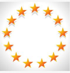 yellow orange star in circle editable vector image