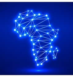 Abstract polygonal Africa map vector image vector image