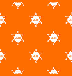 sheriff badge pattern seamless vector image vector image