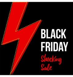 Black friday shocking sale card banner template vector