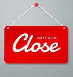 close sign vector image