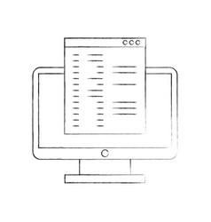 computer desktop with template vector image