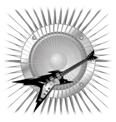 background electric guitar and speaker vector image