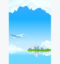 city background vector image