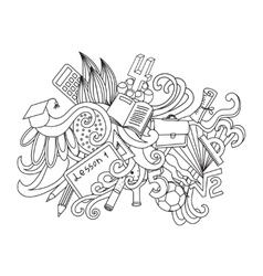 decorative doodles design card Back to school vector image vector image