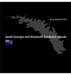 Detailed map of South Georgia and the South vector image vector image