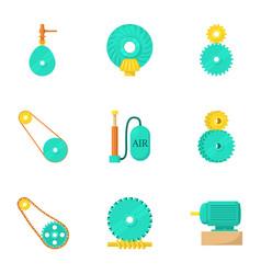 engineering icons set cartoon style vector image
