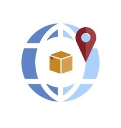 Globe pin icon vector image vector image