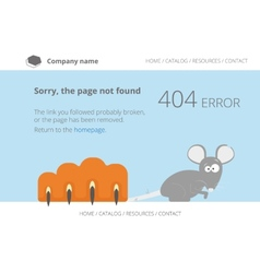 Gray mouse under cats paw Page not found Error 404 vector image