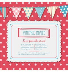 invite and bunting background landscape vector image