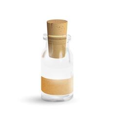 Old medication bottle vector image vector image