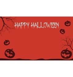 Red Backgrounds Halloween pumpkins vector image
