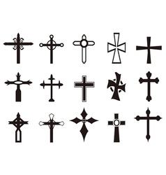 religious cross symbol set vector image
