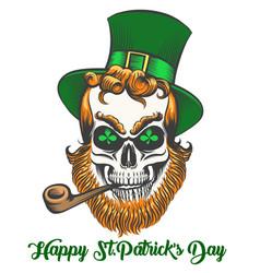 saint patrick skull vector image vector image