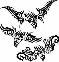 tattoos birds of prey vector image vector image