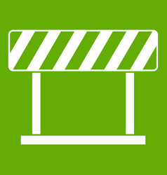 traffic prohibition sign icon green vector image vector image