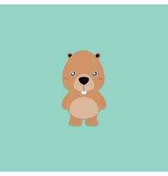 Cute cartoon beaver vector