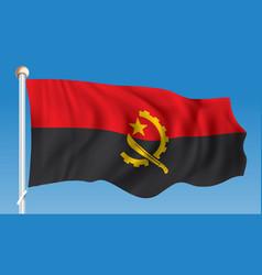 flag of angola vector image vector image